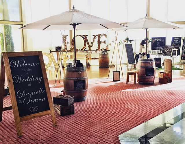 Our Barrels are perfect for more then just the ceremony of your wedding but are also a great statement piece in your reception! Make sure to contact us today for bookings and more enquirers