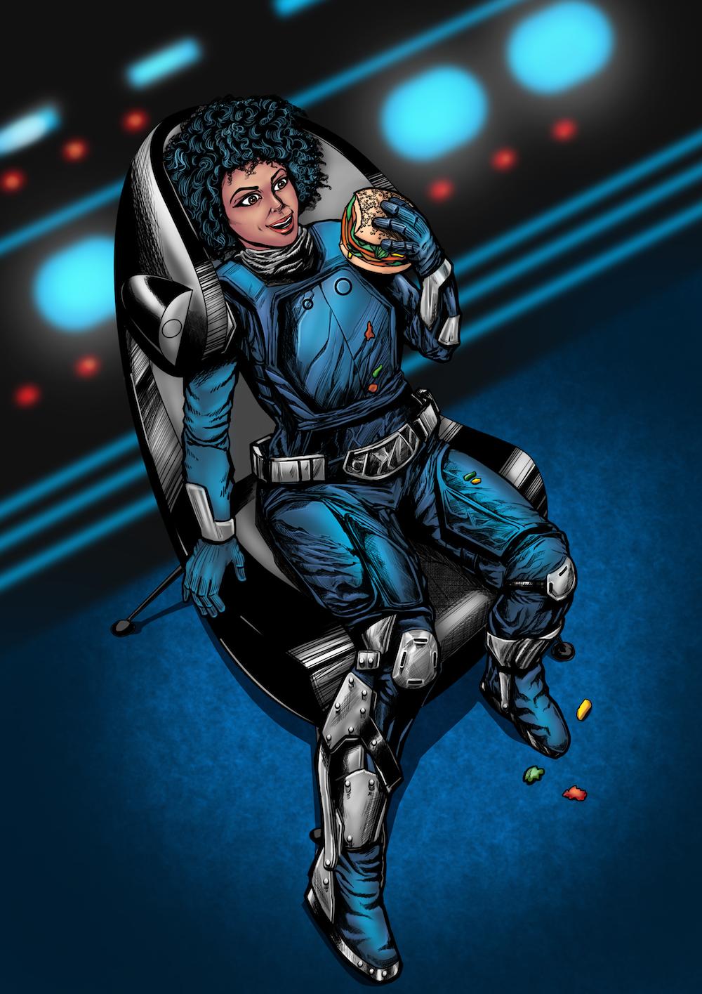 Retrograde Nova image of Titan Webcomic Comic Book Cover Image