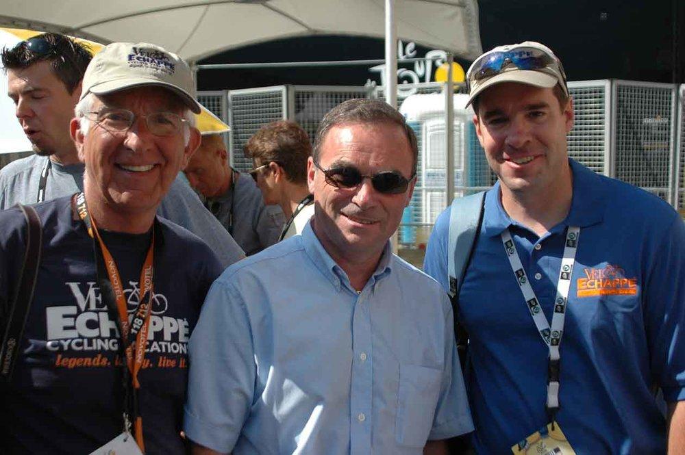 With Bernard Hinault at the Tour de France!