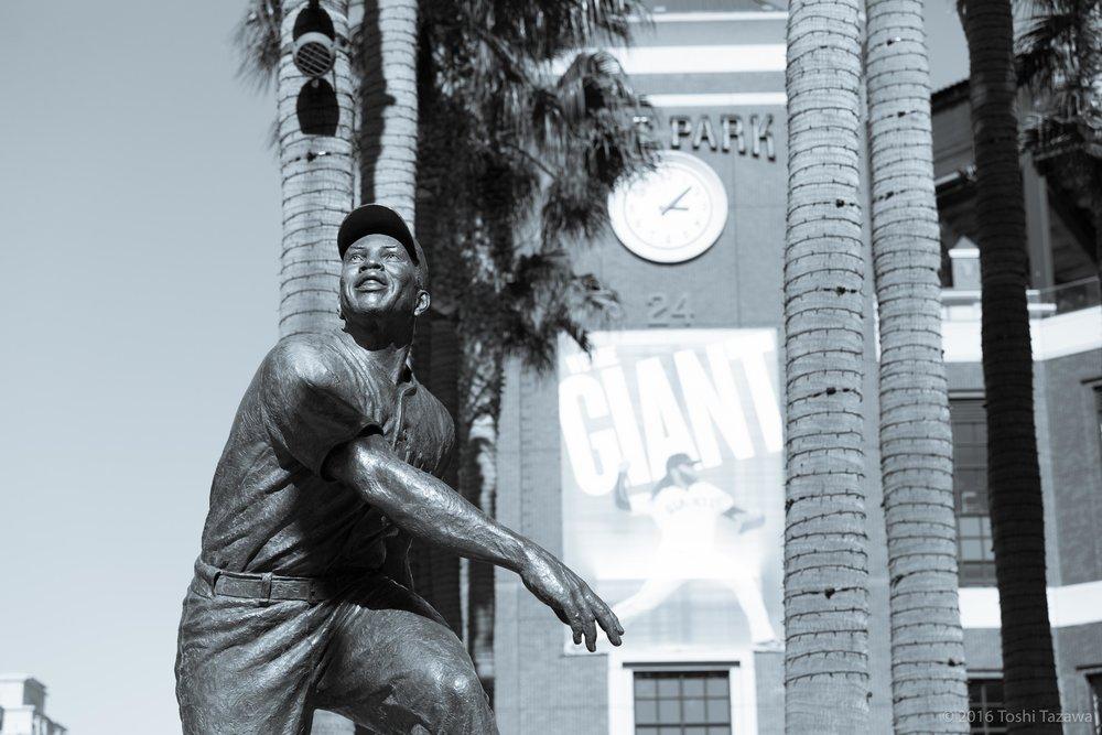 Willie Mays Statue (B&W)
