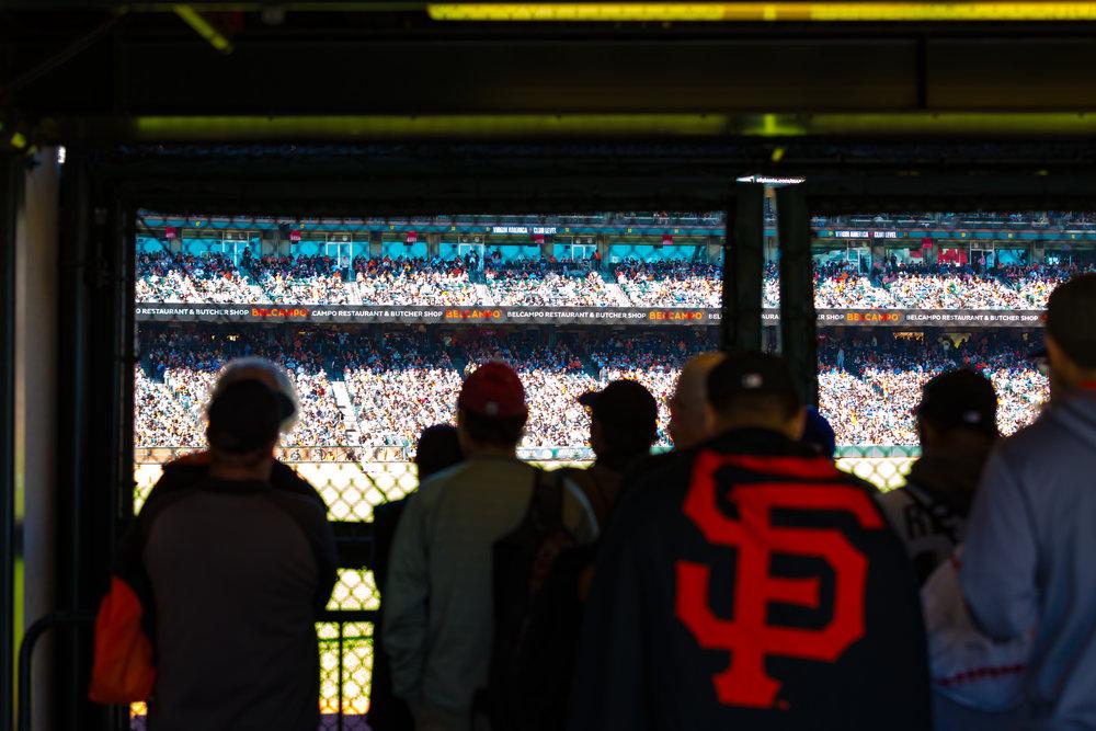 Giants 3 - Dodgers 0! (Telephoto Focal Length, Landscape Orientation)