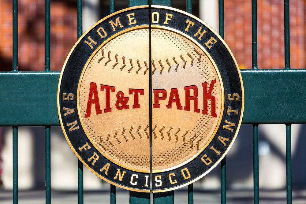 AT&T Park Emblem (Telephoto Focal Length, Landscape Orientation)