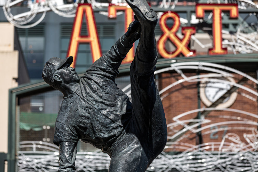 Juan Marichal Statue (Telephoto Focal Length with Compression, Landscape Orientation)