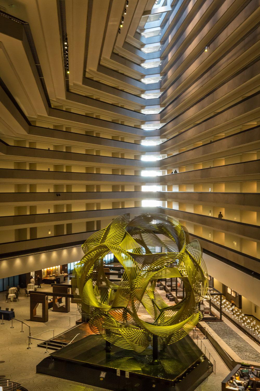 Grand Hyatt Interior (Wide Angle Focal Length, Portrait Orientation)