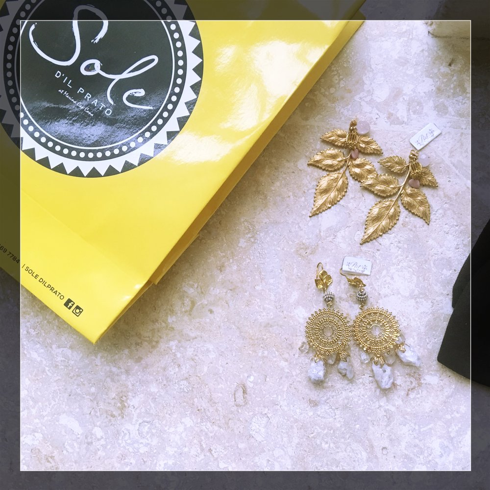 Buy this look! Here is a link to similar styles Gold Leaf Earrings