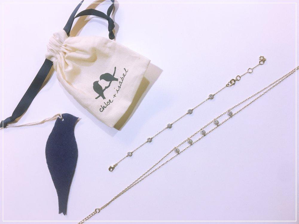 Petits Bijoux Station Choker Necklace $48,    Petits Bijoux Station Bracelet $42