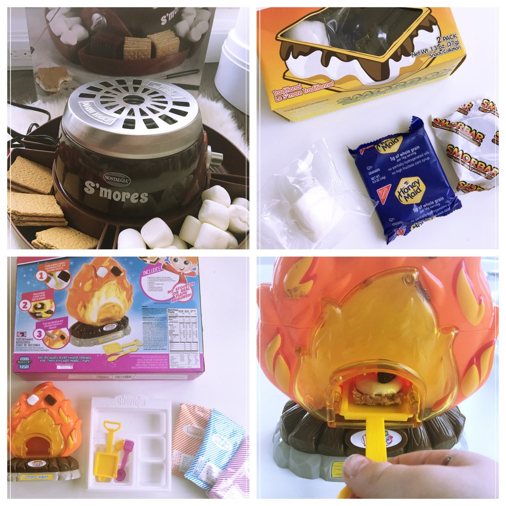 Nostalgic S'more kit, Yummy Nummie S'more kit, SmorBox pre-packaged s'mores set