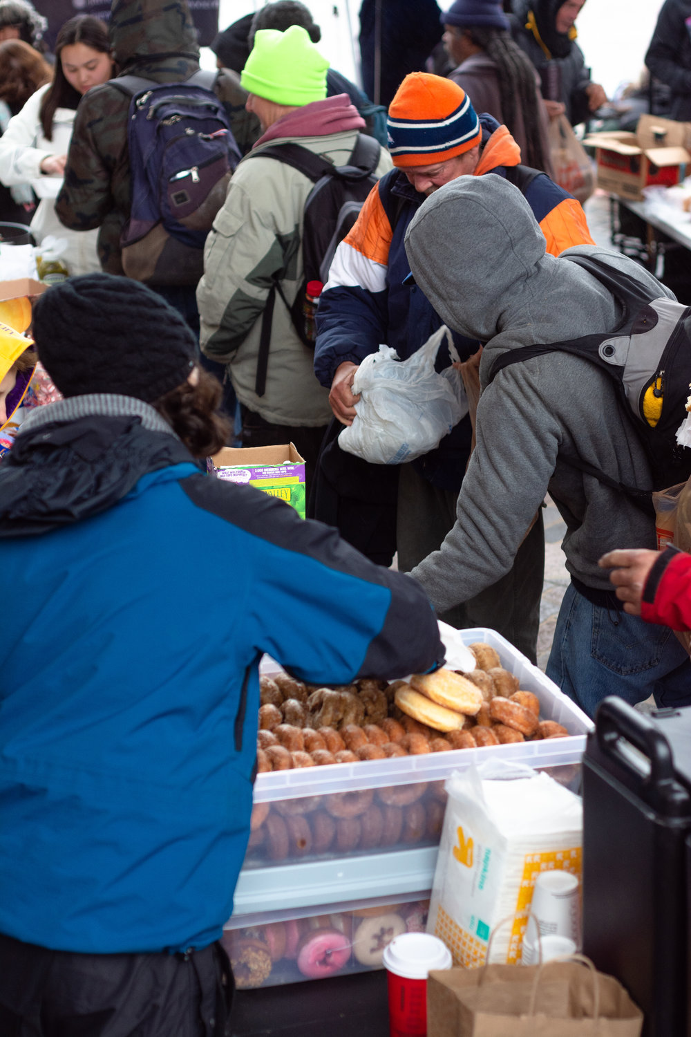 food for the homeless