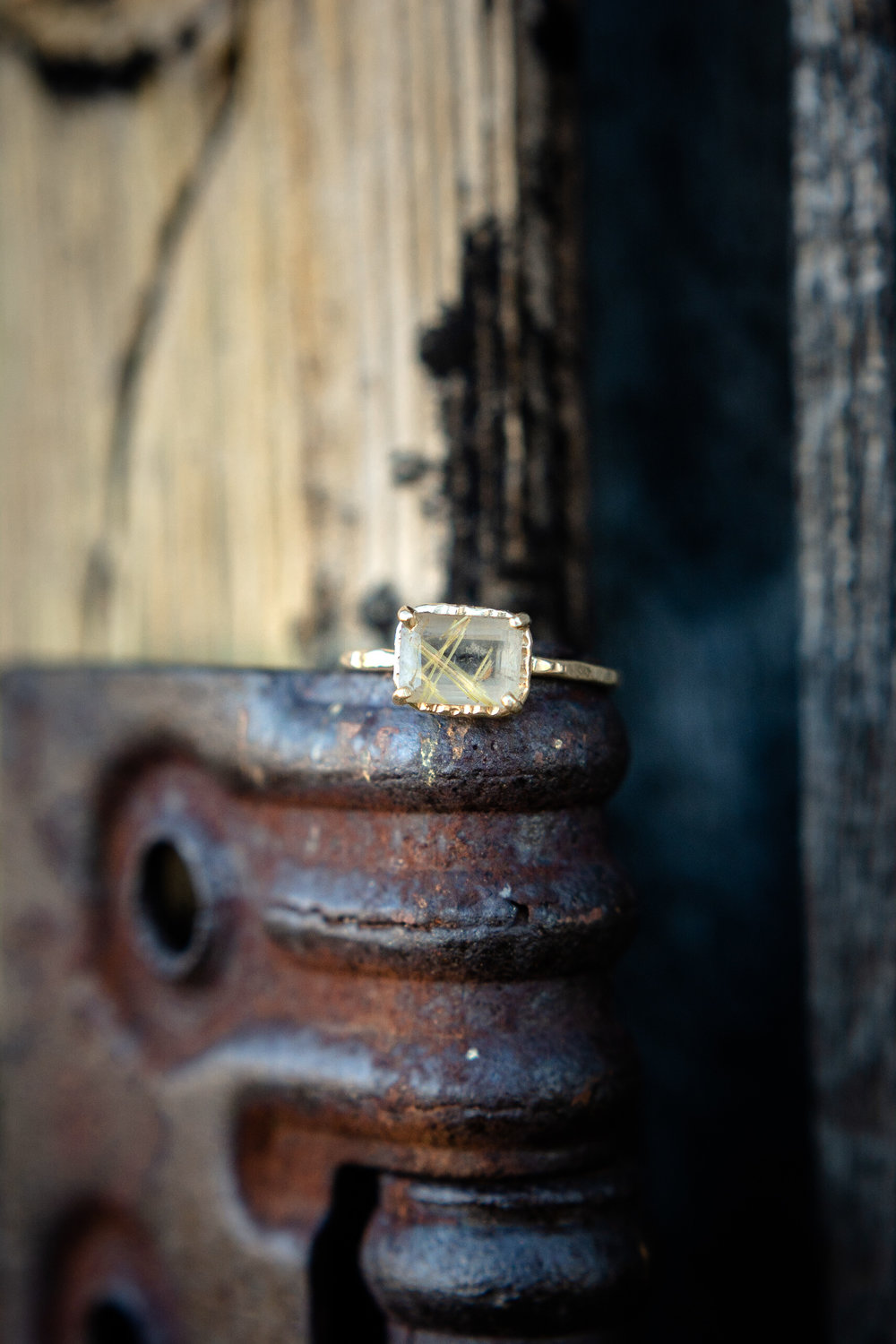 engagement photo of ring