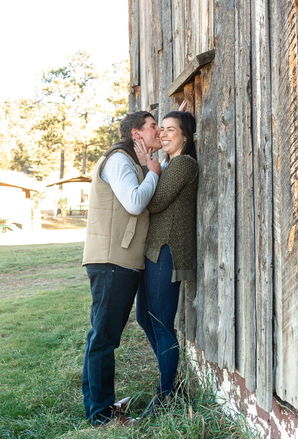 unposed engagement photos