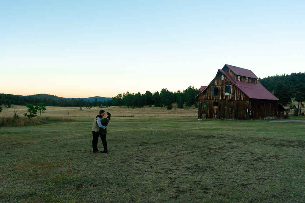 sunset barn engagement denver