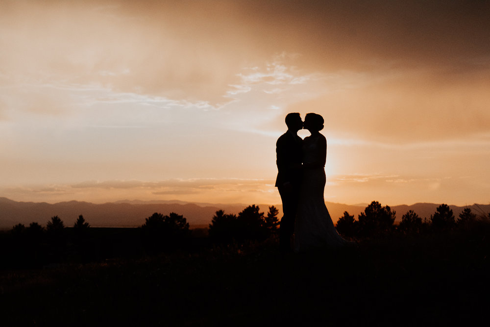 Bride and Groom Silhouette UK +England Affordable Wedding Photographer