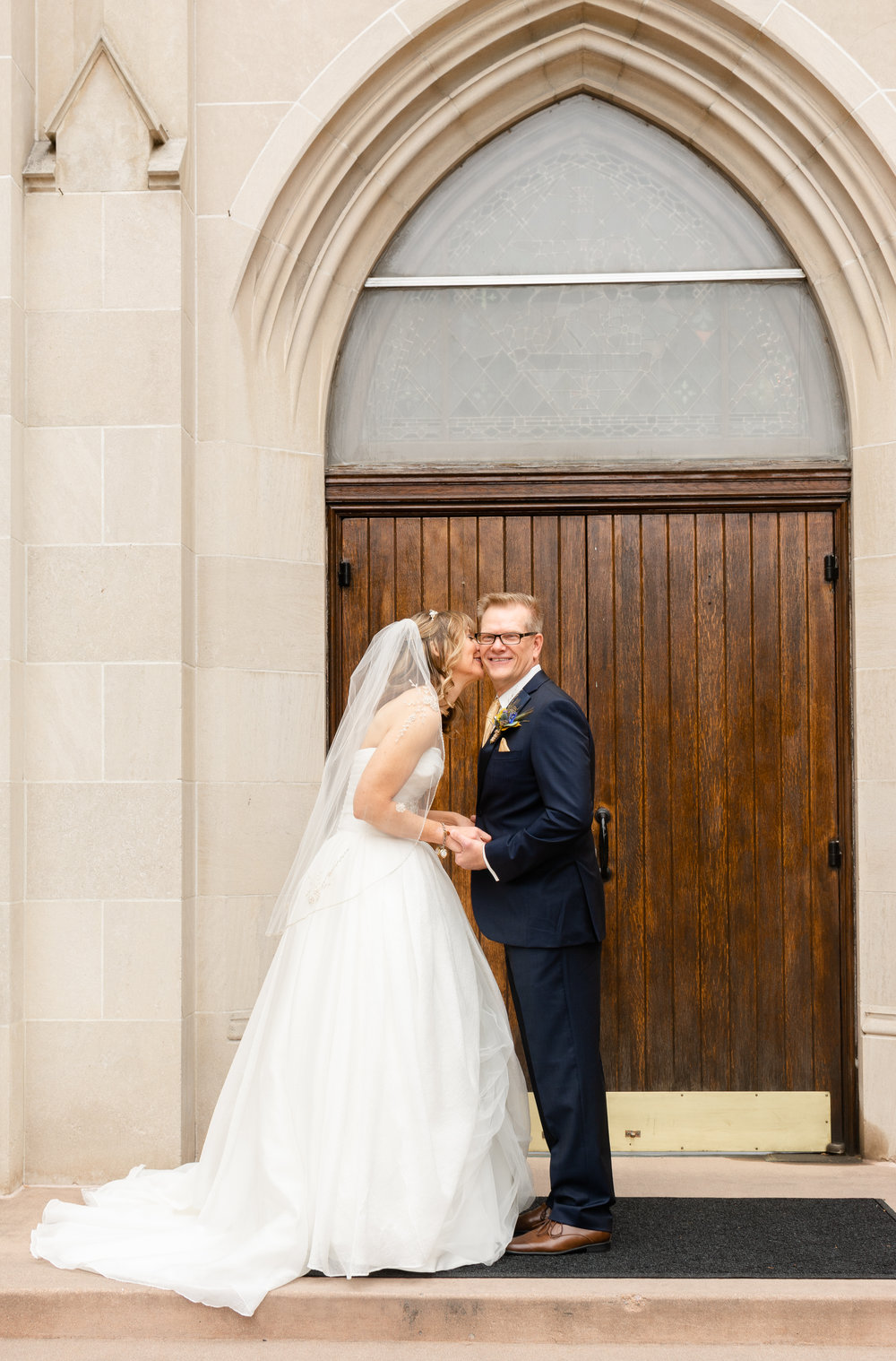 Wedding at Blessed Sacrament Catholic Church in Denver