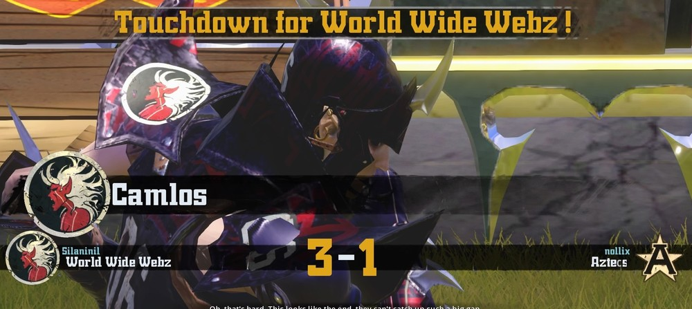 The World Wide Webz score their third touchdown, putting the match on ice