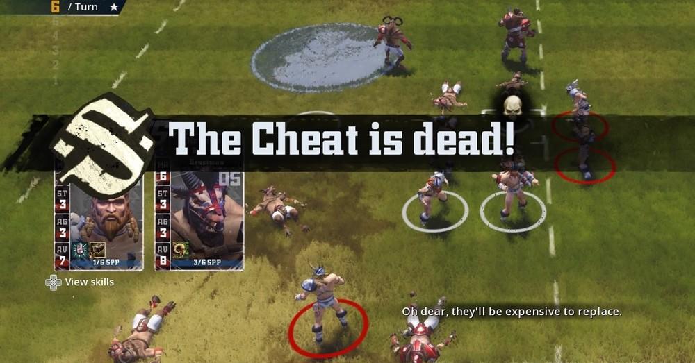 The Cheat . . . the cheat is not dead, The Cheat is . . . oh wait no okay so ya he's dead.