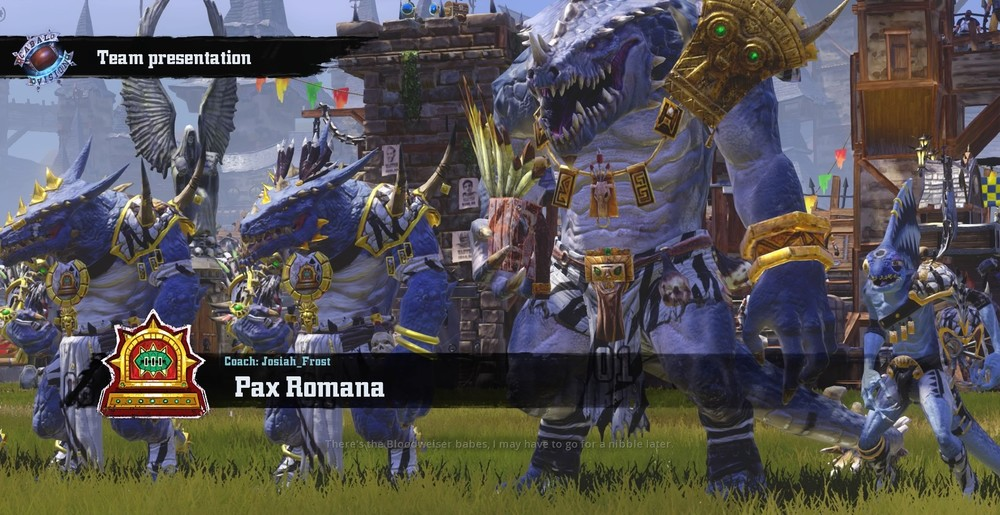 Pax Romana are eager to show that they are the premiere Lizard-man team in all of Blood Bowl!