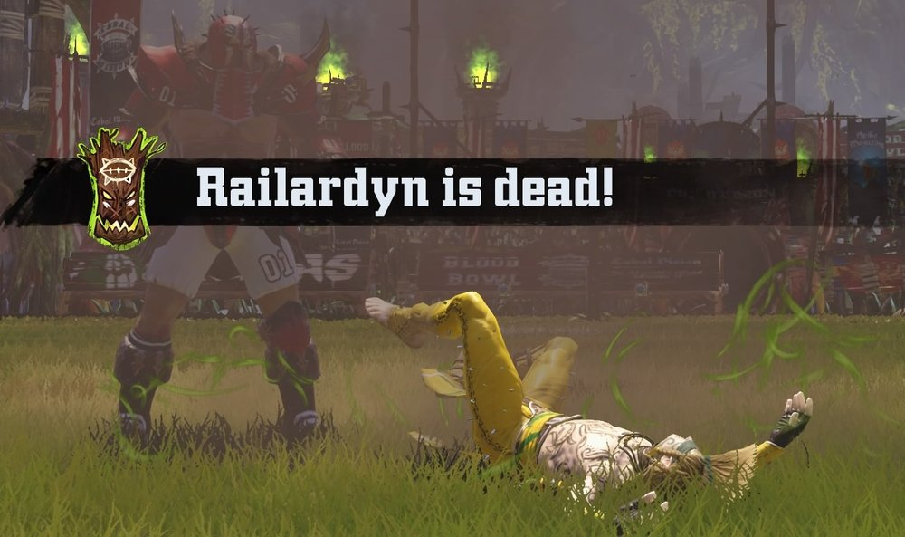 Homestar Runner CW proves he is on the shortlist for must brutal player in the league, killing Railardyn with a jump up mighty blow!