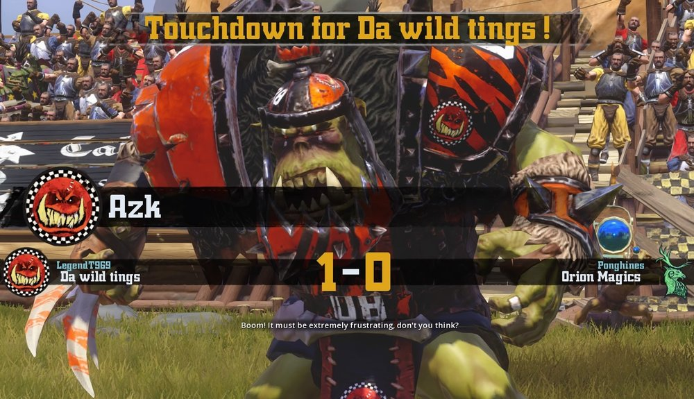 Azk scores the games sole touchdown.