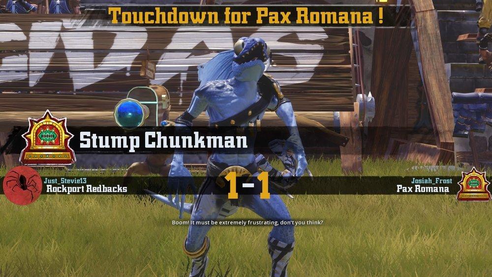 Stump Chunkman should be designated a secret weapon.