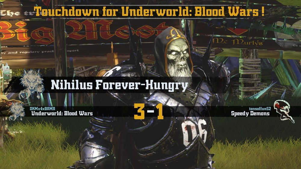 Not content with just a casualty, Nihilus also posted the final TD for the Necromantic team.