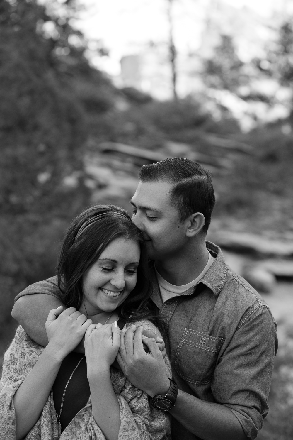 Black and white fine art zion national park adventure engagement photographers