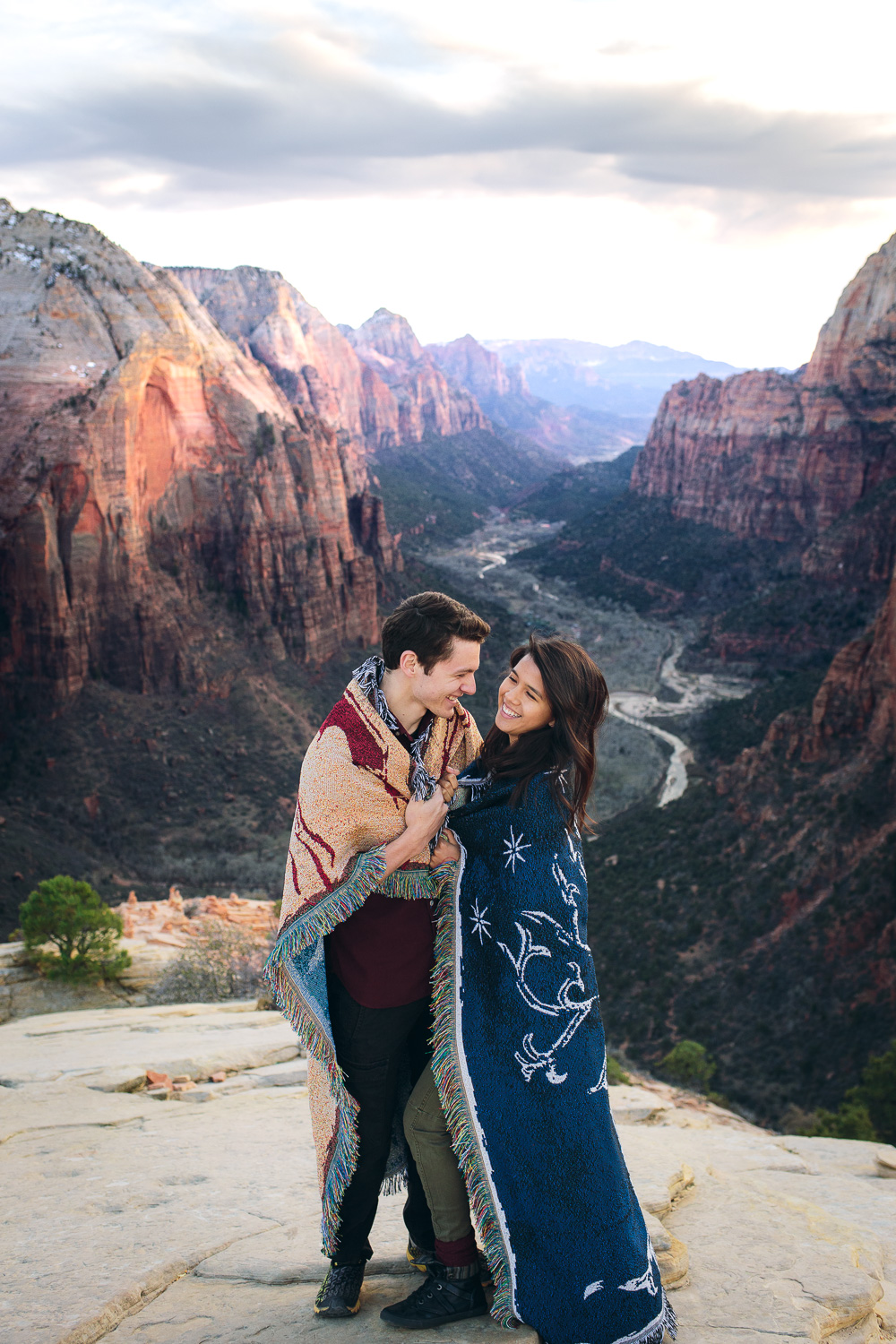 Angels Landing Zion National Park Engagement Photography