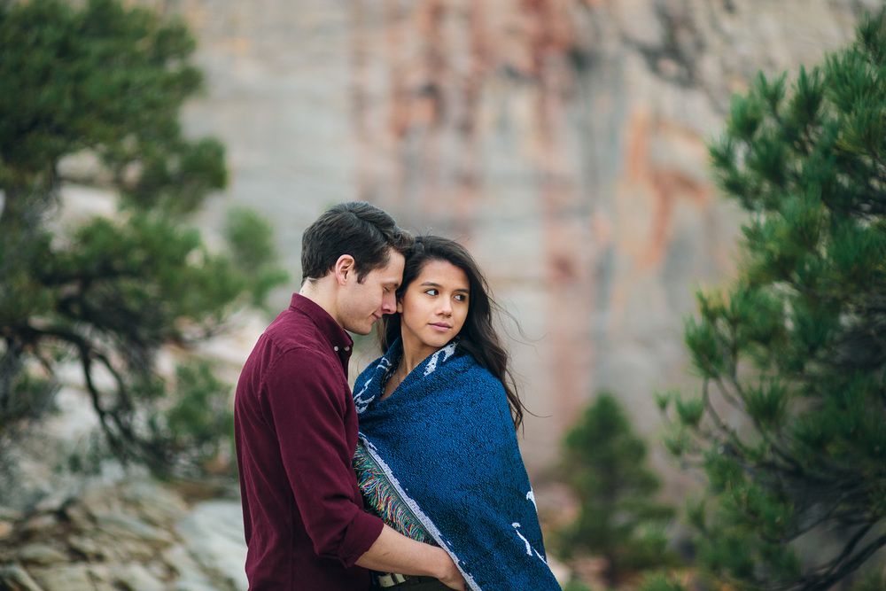 Angels Landing Zion National Park Engagement session
