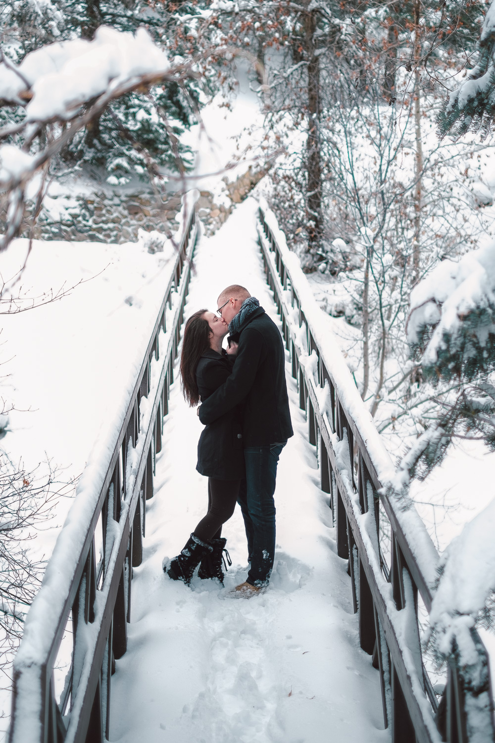 Salt Lake City Winter Engagement Session American Fork Canyon