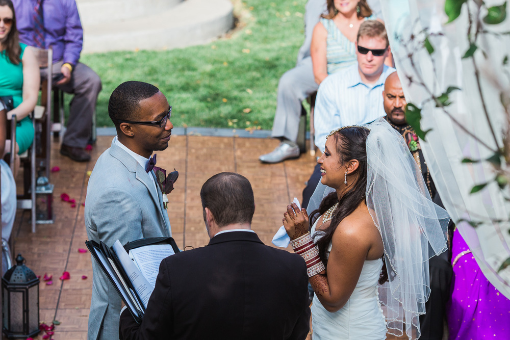 Emotional intimate wedding ceremony Salt Lake City photographers