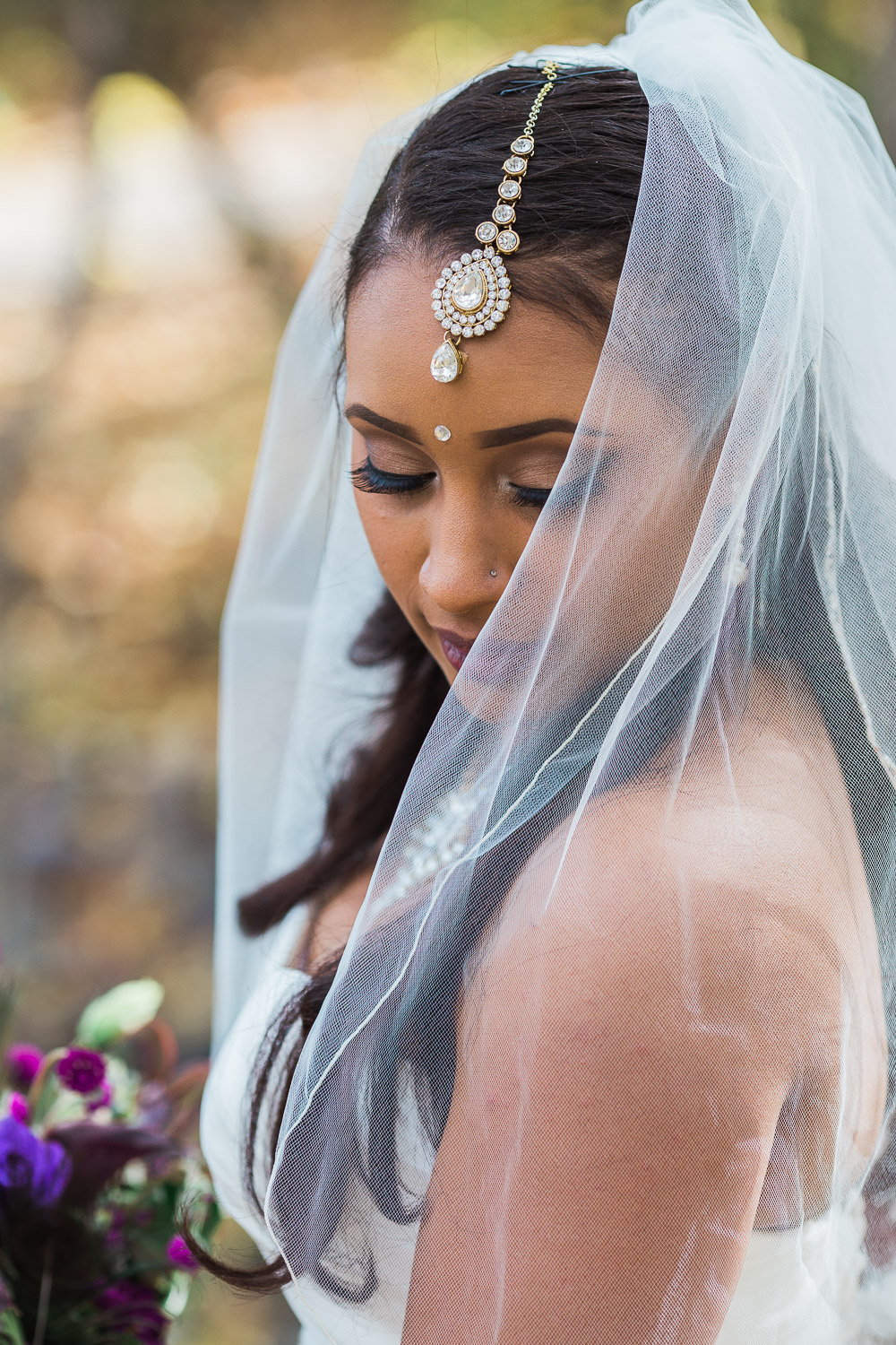 Indian traditional bride details portrait destination wedding California couple