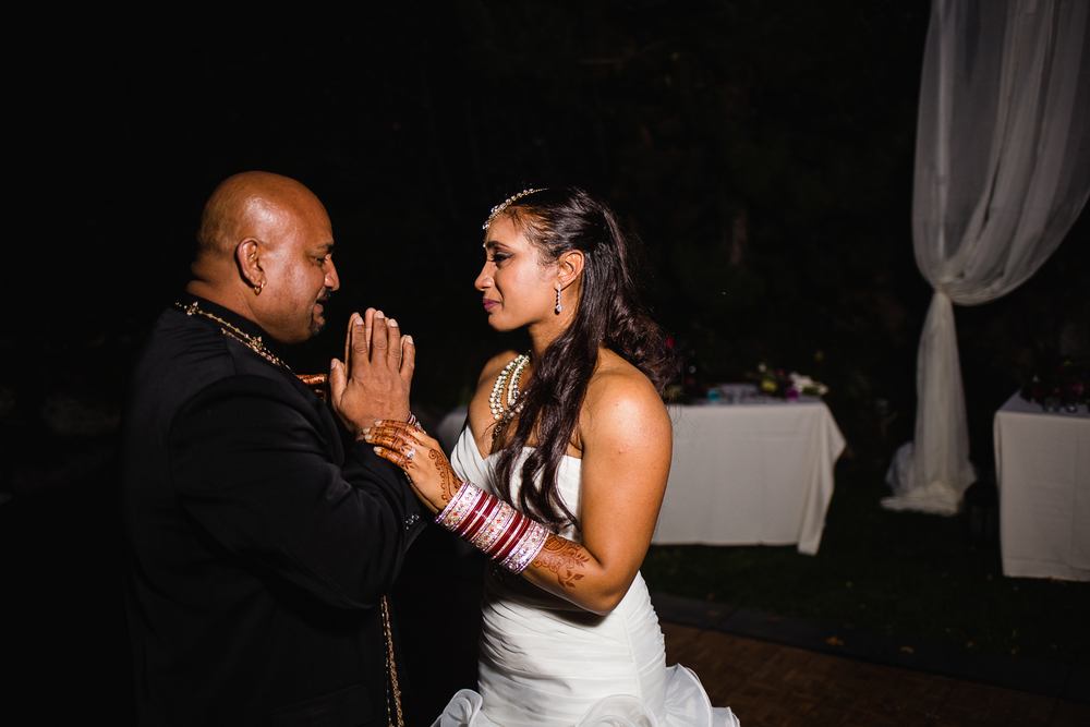 Emotional Indian father daughter dance wedding reception ethnic