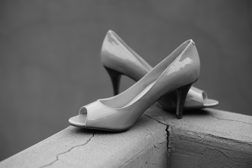 Shoe detail Moab Destination Wedding