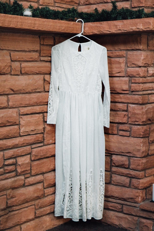 Pine Valley, Utah mountain boho wedding dress
