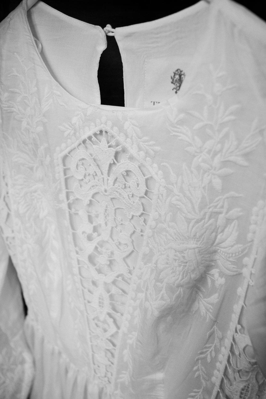 Intricate dress detail mountain winter wedding photographers