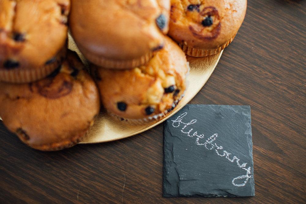 Muffin chalkboard reception detail Pine Valley Utah