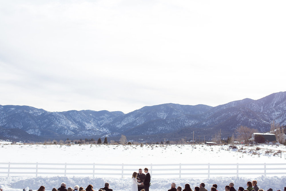 Pine Valley Utah wedding ceremony landscape mountains