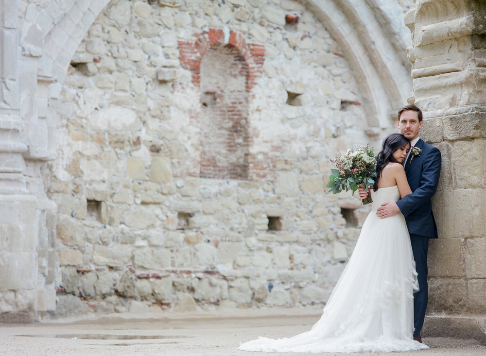 Mission San Juan Capistrano historic ruins elopement photographers Tyler Rye Photography