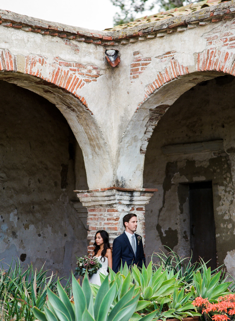 Mission san juan capistrano wedding portraits Tyler Rye Photography
