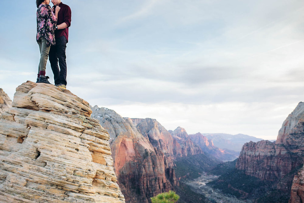 Zion National Park Engagement session Angel's Landing