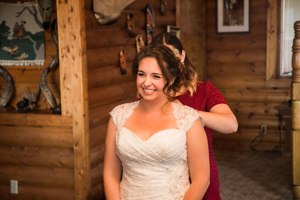 cabin adventure wedding photography utah