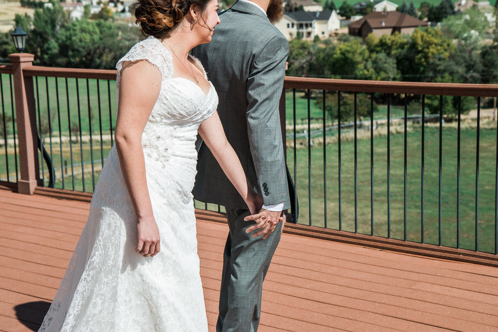 first look mountain wedding