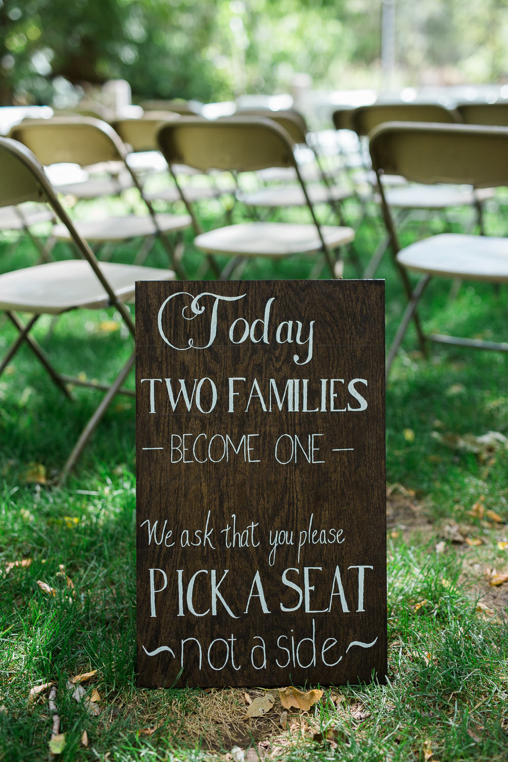 ceremony sign mountain meadow wedding