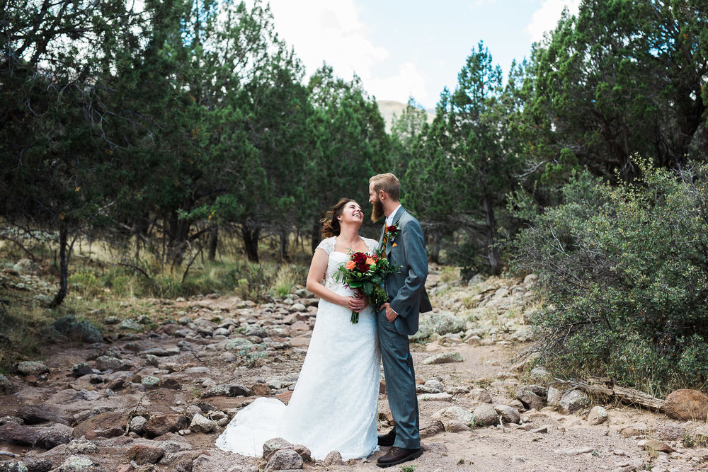 Wedding day portraits pine valley Utah