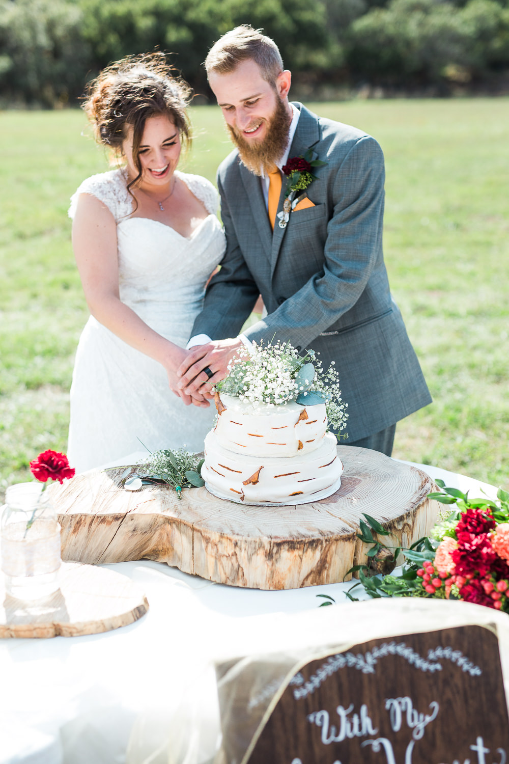 cake cutting reception utah wedding photographer