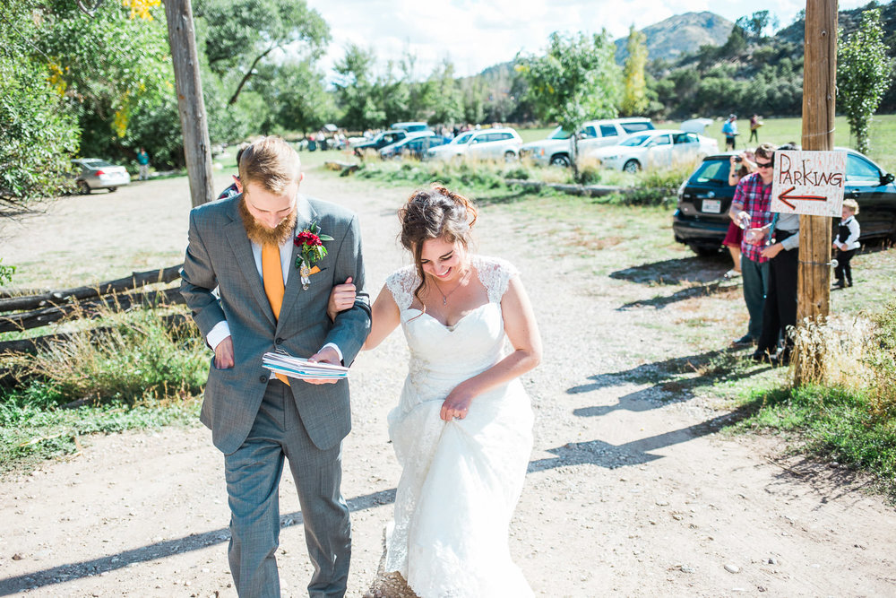 utah mountain wedding send off