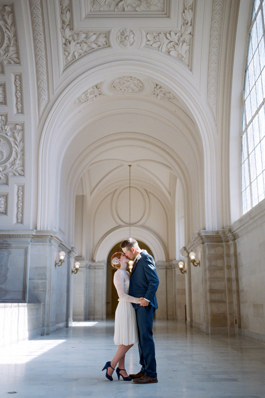 San Fran fine art film city hall elopement photoraphy