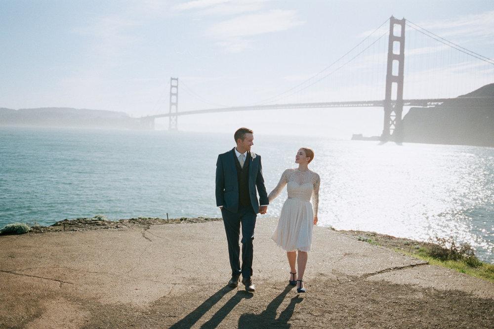 Golden Gate Bridge wedding portraits