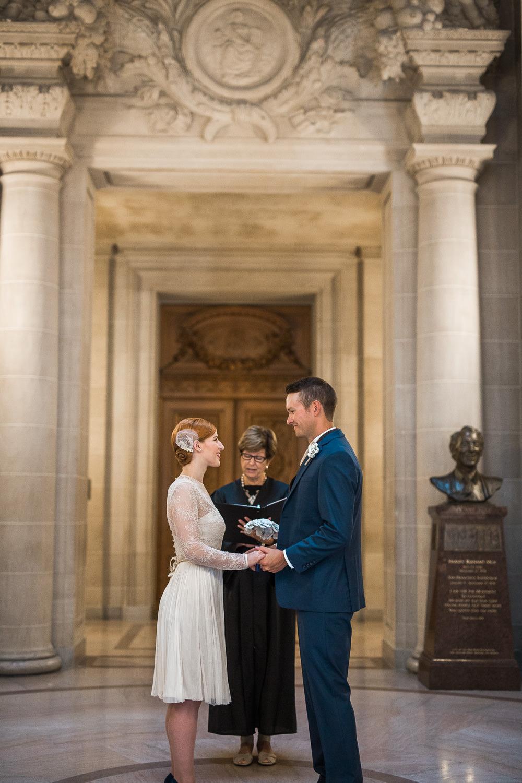 San Francisco City Hall rotunda wedding pictures