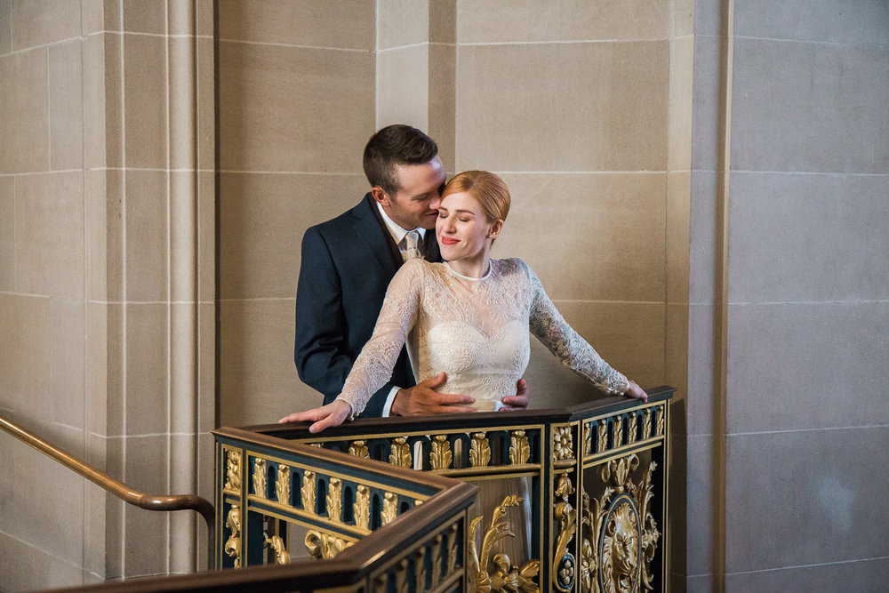 San Francisco City Hall intimate elopement photography