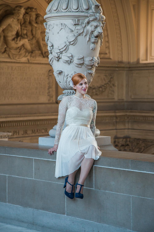 Bride portrait san fran city hall photography
